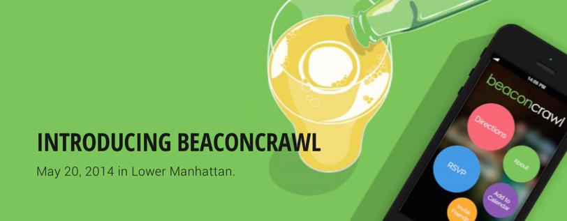 """Dernièrement par exemple, iBeacon a été utilisé dans le cadre d'un barathon. Les balises tenaient lieu d'indices dans la chasse au trésor : """"Il est surmonté d'une poule"""" ou """"Prochain arrêt : Golden Bar"""", et envoyaient des publicités pour des boissons, des réductions pour les bars en question ou d'autres push liés à l'événement."""