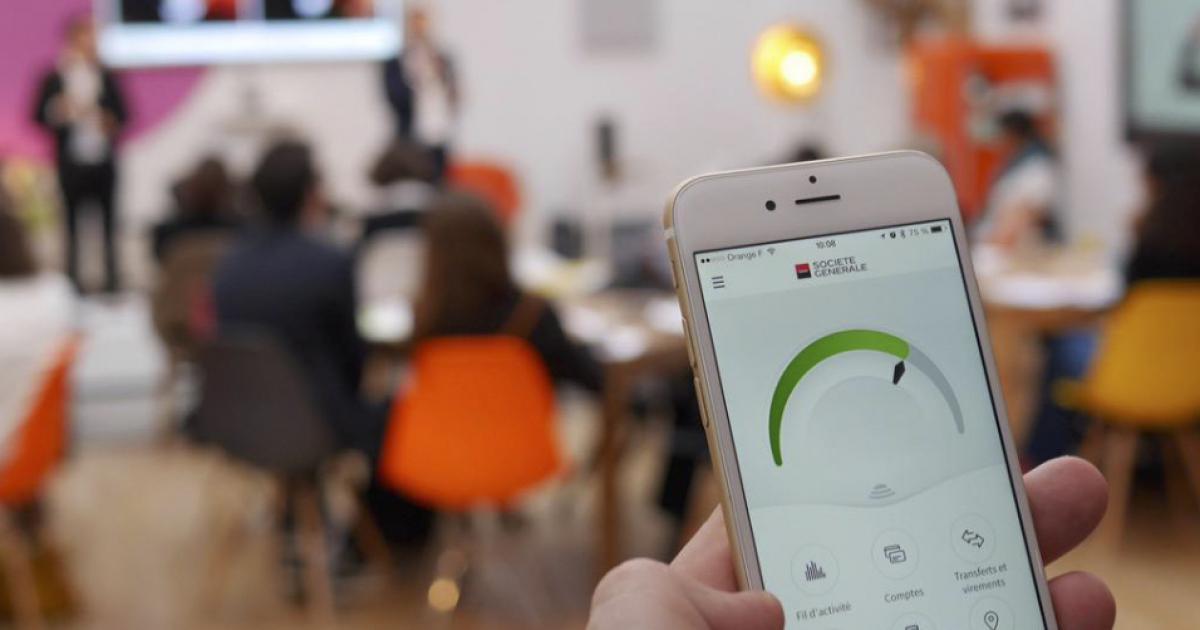 Talk and touch Société Générale mobile banque UX