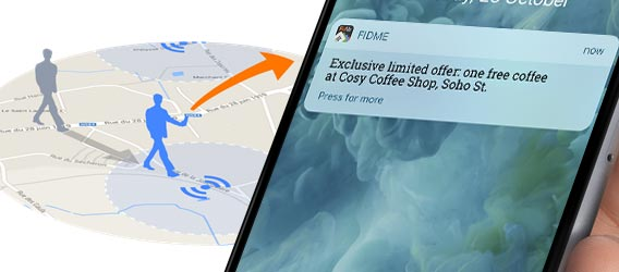 geofencing communication outdoor pour intercepter le consommateur