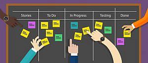 scrum task board projet agile
